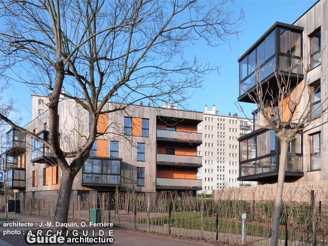 logements housing 2013 rue du Jardin Ecole, Montreuil sous Bois, Nord  ~ Ecole Du Cirque Fontenay Sous Bois