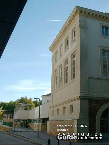 Architecture paris 14e archiguide - Institut national du judo porte de chatillon ...