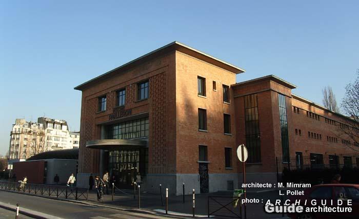 Architecture paris 19e archiguide - Piscine pailleron paris horaires ...