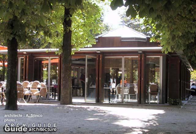 Architecture paris 1e archiguide for Kiosque jardin des tuileries